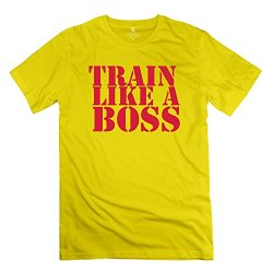 Mens Train Like Boss T-Shirt - Hot Custom Yellow Tshirts