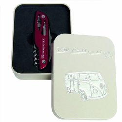 Vw Collection By Brisa Pocket Knife - Red T1 Camper Bus - Official Vw Licensed Product