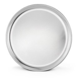 New Star 50813 Aluminum Coupe Style Pizza Tray Pizza Pan, 12-Inch