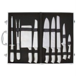 Slitzertm 10Pc Stainless Steel Cutlery Set In Case Combo Set - Style Ctcase10