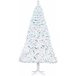 65 feet pre lit white madison pine artificial christmas tree blue lights - White Christmas Tree Blue Lights