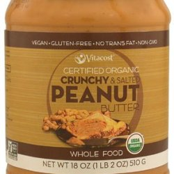 Whole Food Certified Organic Smooth & Unsalted Peanut Butter (Crunchy Salted)