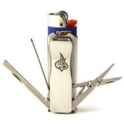 Lighterbro - Lighter Sleeve - Multi-Tool - Stainless Steel - Icon