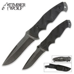 Timber Wolf Extreme Tactical Two Piece Knife Combo With Sheath