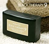 Black Therapy 9 Bamboo Charcoal Soap featuring Activated Bamboo Carbon - 3 Bar Pack