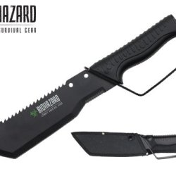 "Biohazard 13.5"" Full Tang Zombie Survival Hunting Machete Knife"