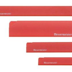 Messermeister 4-Piece Edge-Guard Set, Translucent Red