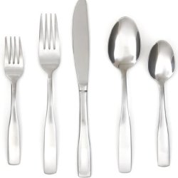 Cambridge Silversmiths Madison Satin 62-Piece Flatware Set With Oak Tray