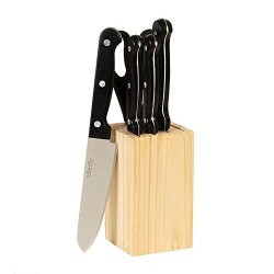 6 Piece Cuisine Select Cutlery Kitchen Knife Set With Wood Block