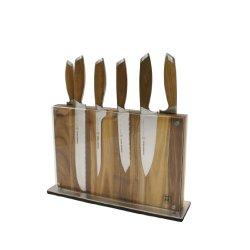 Schmidt Brothers Cutlery, Sbodb07, Bonded Teak 7 Piece Starter Knife Set