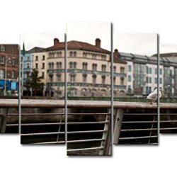 5 Panel Wall Art Painting Rainy Dublin Ireland Pictures Prints On Canvas City The Picture Decor Oil For Home Modern Decoration Print