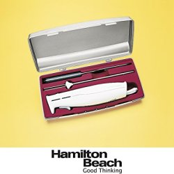 Hamilton Beach Carve 'N Set Electric Knife With Case (74250) - White