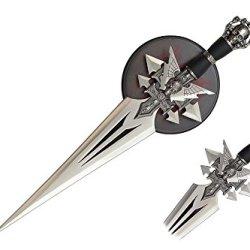 "Swordmaster - 17"" Skull Fantasy Dagger Sword With Wall Plaque"