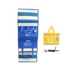 """Beach Mat Tote Bag 2-In-1 Combo (71""""X30"""") And A Mini Pocket Knife - Stocking Stuffers And Christmas Gift Ideas 2014 For Mom Sister Daughter Teenage Girls Age 7 8 9 10 11 12 - - Waterproof And Sand Proof Beach Blanket Bag Comes In Assorted Colors: Blue, Ye"""