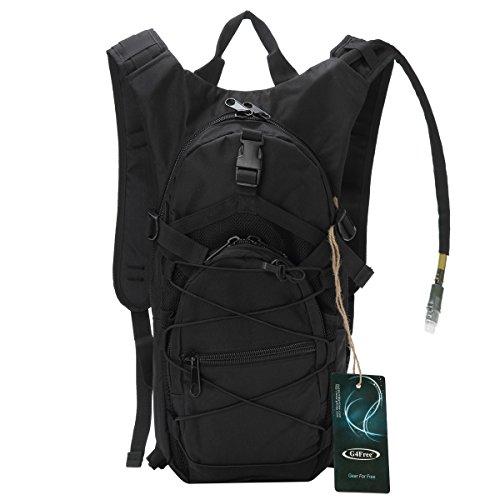 G4Free ハイドレーションバッグ 3.0L ランニングバッグ タクティカル ハイドレーション 付 ショルダーバッグ サイクリングバッグ 自転車 バックパック 登山に リュック (ブラック)