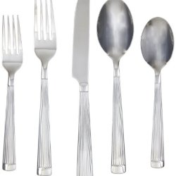 Farberware Chicory Mirror 20-Piece Flatware Set, 18/0 Stainless Steel