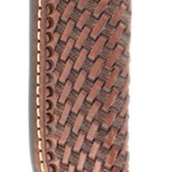 Nocona Men'S Basketweave Leather Knife Sheath Brown One Size