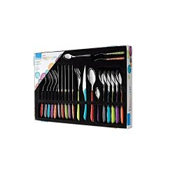 Amefa 24-Piece Eclat Kaleidoscope Flatware Box Set, Silver