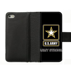 Jdsitem U.S. Army Strong Star Design Diary Leather Case Cover Sleeve Protector For Phone Iphone 5S