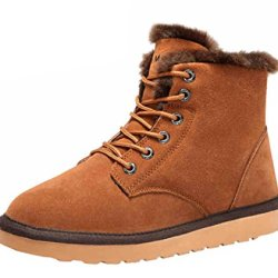 Rock Me Men'S Flak I Winter Plush High Top Snow Boot(8 D(M) Us, Chestnut)