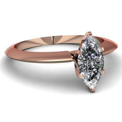 Fascinating Diamonds 0.70 Ct Marquise Cut Si1 Diamond Innovative Knife Edge Solitaire Engagement Ring Gia