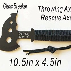 Father'S Day Gift- Personalized Engraved Rescue Axe, Hatchet, Camping Gift, Sportsman Gift, Knife