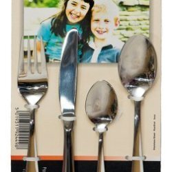 Childrens 4 Piece Cutlery Set - Stainless Steel