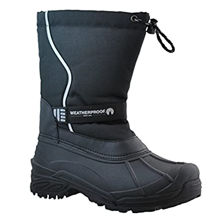 The Weatherproof Oscar has everything you need for those winter days ahead. Its Waterproof rubber shell keeps your feet dry and warm . The Thermolite insole gives you additional warmth and the easy close front bungee closure gives you that perfect fi...