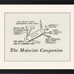 Framed Print Of The Motorists Companion / W H Robinson