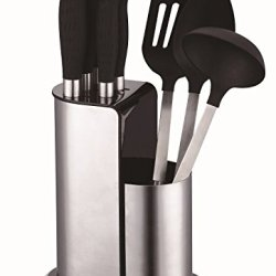Peterhof 8Pc 18/10 Stainless Steel Knives And Kitchen Tool With Stand Ph-22383