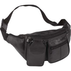 Exclusive Fanny Packs Incomparable Luggage 7 Pocket Leather Waist Bag Standout