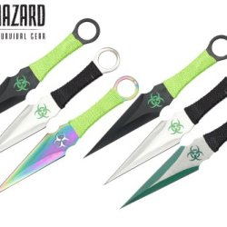 9 Inch 6Pcs Set Zombie Throwing Knife Biohazard A8022-6-Astd