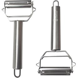 Chefcoo™ Julienne Peeler - Vegetable & Fruit Peeler Stainless Steel - Durable Razor Sharp Blade - Professional Grade Shredder, Slicer, And Cutter In One
