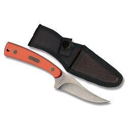 Old Timer Sharp Finger Fixed-Blade Knife Orange