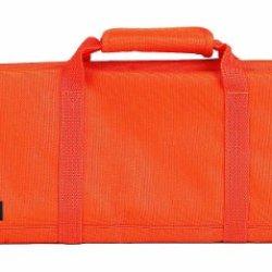 Messermeister 12-Pocket Padded Knife Roll, Orange