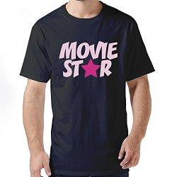 Hot Movie Star Men Tee Shirts Medium Black
