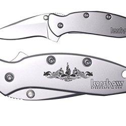 Us Navy Submarine Silent Warfare Engraved Kershaw Chive 1600 Folding Speedsafe Pocket Knife By Ndz Performance
