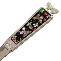 Antique Alive Mother Of Pearl Flower Butterfly Design Metal Steel Knife Office Sword Blade Hand Envelope Gift Letter Opener (O101)