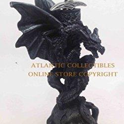 Burning Skull Tomb Dragon Patron Resin Letter Opener Statue Figurine