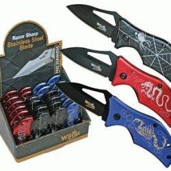 Poison Series Folding Knives, 3-Pc Set (Scorpion, Spider, Dragon)