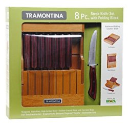 Tramontina 8 Pc. Steak Knife Set With Folding Block