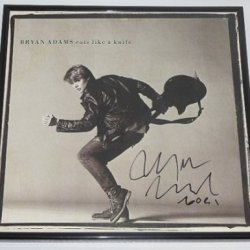 Bryan Adams Cuts Like A Knife Signed Autographed Lp Record Album With Vinyl Framed Loa