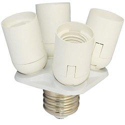 E40 To Three E27 Base Socket Splitter Lamp Bulb Adapter Holder For Photo Softbox