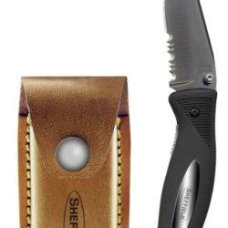 Sheffield 12091 Water Folding Pocket Knife, 3-1/4 Inch, Black