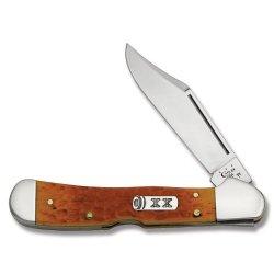 Case Cutlery 16066 Persimmon Orange Bone Copperlock With Tru-Sharp Surgical Steel Blades