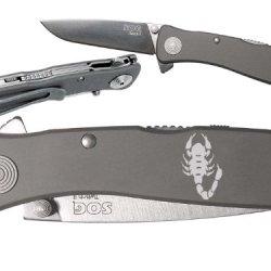 Scorpio Scorpion Zodiac Custom Engraved Sog Twitch Ii Twi-8 Assisted Folding Pocket Knife By Ndz Performance