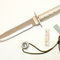 Wholesale Lot 24-Pc Case Hunting Knife Stainless Steel + Survival Kit Sheath 14""