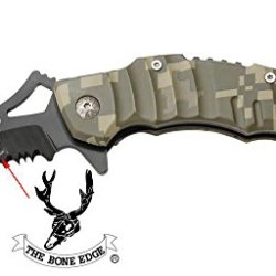 "Camo 6 1/2"" Heavy Duty Folding Spring Assisted Knife W/ A Nice Design"