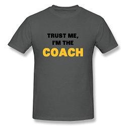 Gentleman Trust Me Im Coach Eco-Friendly Cotton T-Shirt Size Xl Color Deepheather