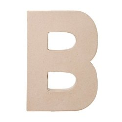 "Ready To Decorate Paper Mache Capital Letter ""B"" For Crafting, Creating And Projects"